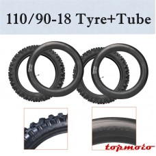 TDPRO 120/90-18 Tyre Tire & Tube for Dirt Pit Bike Motocross Motorcycle Trail Bike off