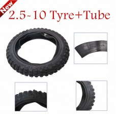 TDPRO 2.5-10 2.50-10 4 PLY Motocross MX pit Enduro Dirtbike Dirt Bike Tyre Tire & Tube