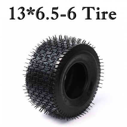 TDPRO 13x6.50-6 Tire Tubeless 4 Ply Tire for Turf Lawn Mower Garden Tractor