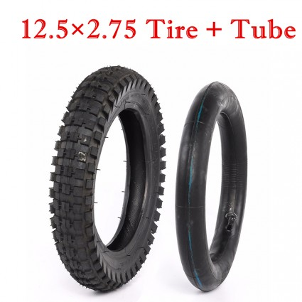 TDPRO 12 1/2 x 2.75 (12.5 x 2.75) Tire & Tube for Mini Pocket Rocket Bike Scooter Razo