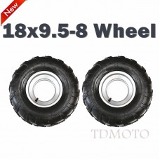 "TDPRO 18X9.5- 8"" inch Rear Back Wheel Rim + Tyre Tire 150cc Quad Dirt Bike ATV Buggy"