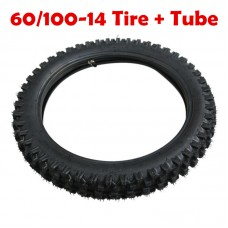TDPRO 2.50x14 60/100-14 Front Knobby Tire Tyre Tube For Honda Yamaha  Pit Dirt Bike KLX