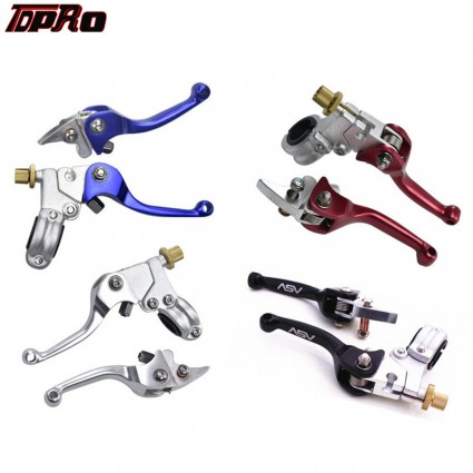 "TDPRO Universal Shorty 7/8"" Brake & Clutch Levers Kit Pair Pack For Suzuki RM85 RM125 RM250 RMZ Motorcycle Dirt Bike"