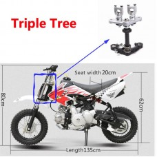 TDPRO 22mm 27mm Triple Tree Clamps Set Front Fork Shock Absorber Motorcycle Fit 90B Fork 50cc 70cc 90cc 110cc Dirt Pitbike