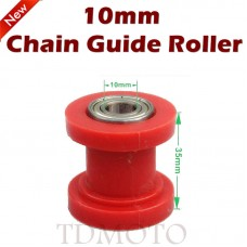 TDPRO 10mm Red Chain Roller Guide Tensioner Runner for Motorcycle Dirt Bike ATV Quad
