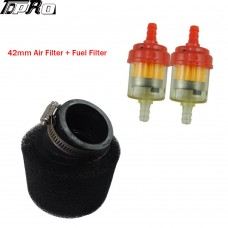 42mm Air Filter Fuel 125 140 cc For Pit Dirt Monkey Bike ATV 150cc GY6 Scooter