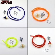 TDPRO 1 Meter Fuel Line Hose + Fuel Tap Petcock + Fuel Filter For Petrol Scooter Motorcycle Pitbike Go-Karts