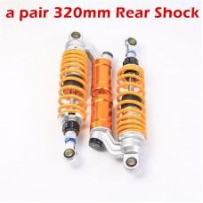 "TDPRO 12.5"" 320mm Air Shock Absorbers Fit Motorcycle Eye to Clevis For Scooter Moped Quad ATV"