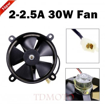 """TDPRO 12v 30W 2A Motorcycle Electric Cooling Fan 6"""" 12v Radiator Engine Water Cooled Bike Scooter Oil Cooler XQ"""
