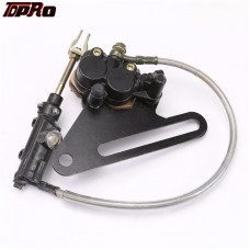 "TDPRO 18"" Rear Hydraulic Brake Master Cylinder Caliper For Dirt Pit Bike KTM 70-250cc"