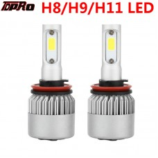 TDPRO H11 200W 20000LM CREE LED Conversion Headlight KIT Hi/Low Beam 6000K White