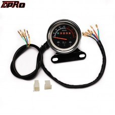 TDPRO 12V Speedometer Odometer KMH Gauge Turn Signal light For ATV QUAD Scooter Go Kart