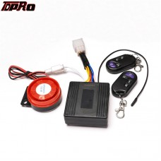 TDPRO Motorcycle Scooter ATV Security Alarm System Anti-theft Remote Control Start