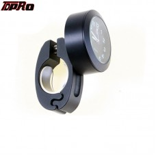 TDPRO Black Motorcycle Accessory Handlebar Mount Clock Watch Waterproof