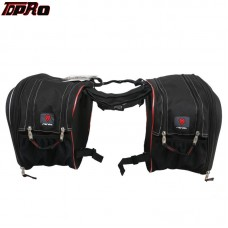 TDPRO Universal Black Motorcycle Saddle Bag For Harley Yamaha Honda A Pair