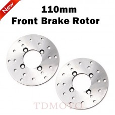 TDPRO 110mm 4 Stud Front Brake Disc Disk Rotor 125cc 150cc Quad Dirt Bike ATV Buggy