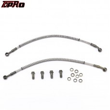 TDPRO M10 410mm Oil Lines Hose Pipe + Bolt Kits for Engine Oil Cooler Radiator Pit Bike