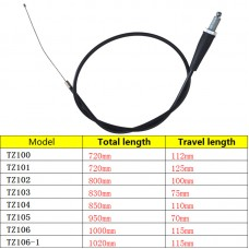 TDPRO Throttle Cable 1020/1000/950/850/830/800/720mm For Dirt Pit Bike ATV Quad Go Kart 4 Stroke 70c 110cc 125cc