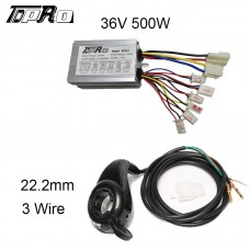 36V 500W Motor Brushed Controller Speed Control Thumb Twist Throttle e Bike Dirt