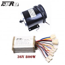 36V 800W Electric Brushed Motor + Speed Controller for E Bike Razor Scooter Mope